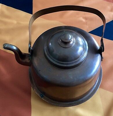 Antique Copper Kettle - Rothrergoy Turku - Made In Finland - 2.5 Qt.