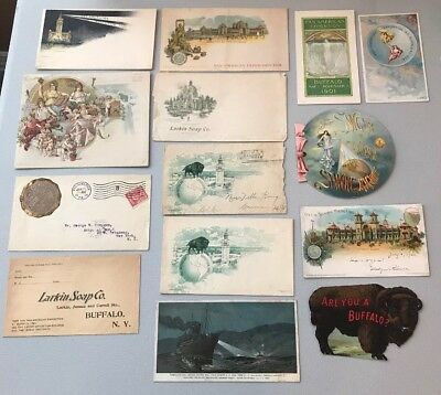 Large Paper Lot 1901 pan-american exposition buffalo Cards Envelopes Adv