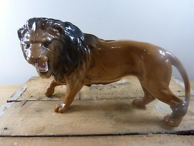 Large Beswick lion, looking left