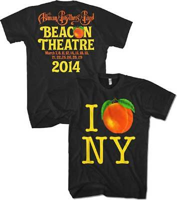 New Men's Allman Brothers 2014 Beacon Theather Printed Double Sided T-Shirt XL