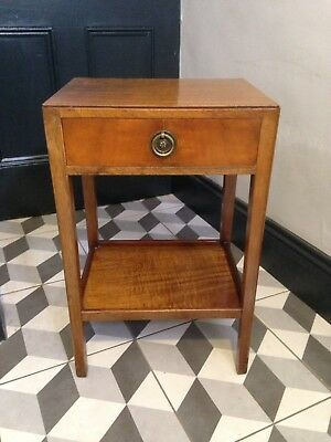 Vintage Wooden Side Table / Bedside Table - Pretty With Drawer / 33x40x61cm
