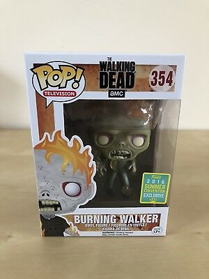 Funko Pop The Walking Dead Burning Walker #354 2016 SDCC Exclusive
