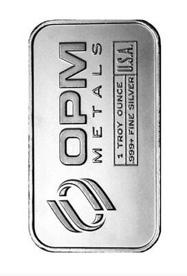 OPM-Ohio Precious Metals-  1oz .999 Fine Silver Bar -#9