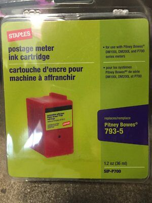 Staples Brand Postage Meter Red Ink for Pitney Bowes SIP-700 Series