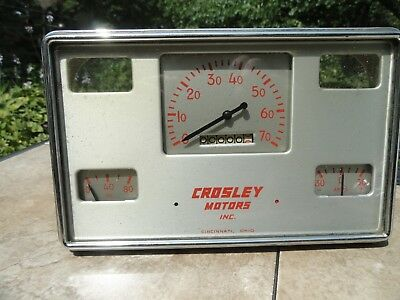 1950 to 1952 Crosley CD Gauge Cluster with Speedo, Oil and AMP gauges Only NOS