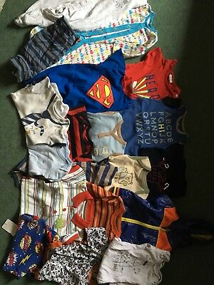 Baby boys bundle 0-3 months Next Rompers Vests Babygrows Mothercare Tops Coat