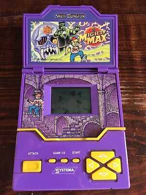 rare working mighty max escapes from skull dungeon 1993 bluebird toy handheld