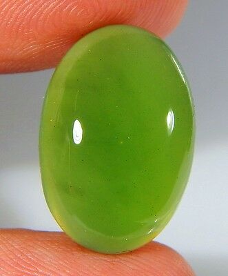 13 Ct Natural Ring Size Deep Green Serpentine  Jade Oval  Cabochon  Gemstone A96