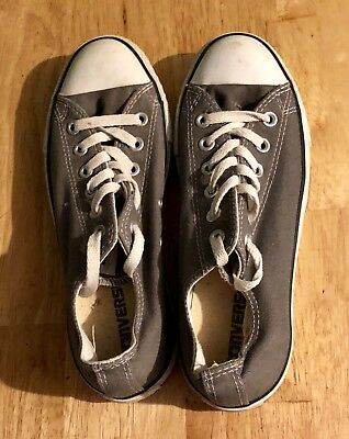 Converse All Star Gray Unisex Low Top Sneakers Shoes Women's Size 8 Men's Size 6