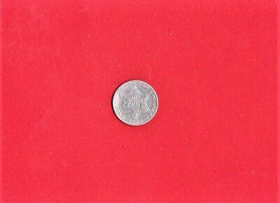 1854 Three Cent Silver,very High Grade,at Least V F ++,(822)