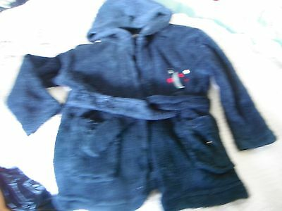 dressing gown navy 0-6 months