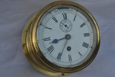 German 8 Day  Winterhalder & Hofmeier  W&H Sch FUSEE MOVEMENT Chain SHIPS CLOCK