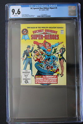 DC SPECIAL BLUE RIBBON DIGEST 5 New ORIGIN ZATANNA Zarata 1980 JLA Demon CGC 9.6