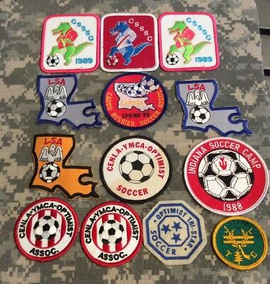 Lot Of 13 Vintage Ymca Soccer Patches Euc