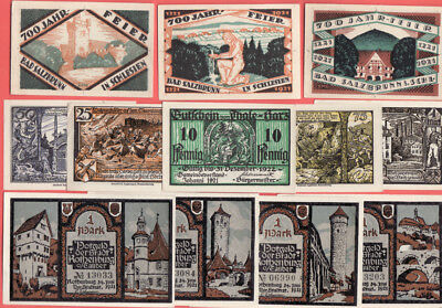 br- Lot 13 German Small Notgeld  Lot Lots 40 Pieces Different . History Themes