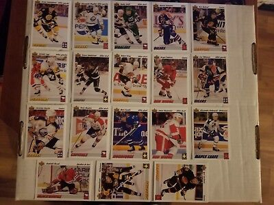 Upper Deck 1991-92 Euro-Stars Complete Set Of 18 Hockey Trading Cards Nhl
