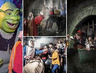 "Shrek/The London Dungeon Booking Code For 2 Etickets ""You Choose Your Date"""