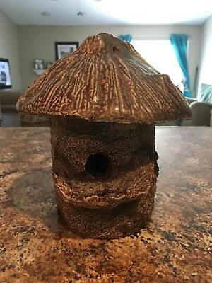 "Rare Ohio Sewer Tile Birdhouse 9"" Tall"