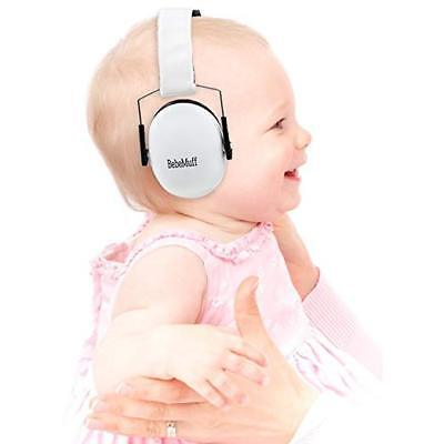 BEBE Muff Hearing Protection BEST USA Certified Ear Muffs, Ivory White 2 yrs +