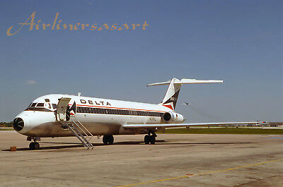 """Delta Airlines Douglas DC-9-32 N1280L at TUL in May 1979 8""""x12"""" Color Print"""