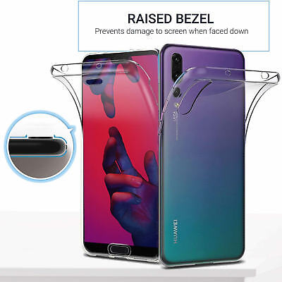 For Huawei P20 360 Case Gel Cover Shockproof Silicone Protective Clear Slim New