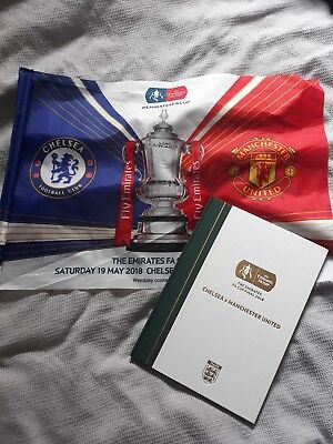 2018 fa cup final ( rare box programme with flag)