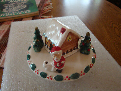 VTG Working Ceramic * Candle holder* Xmas Figurine JAPAN