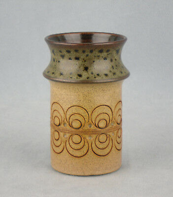 Jersey Pottery Small Vase /  Pen Pot 11.5Cm