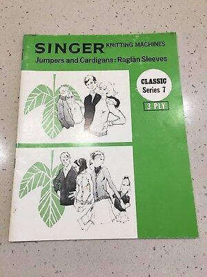 Singer Knitting Machine Pattern Book - Jumpers and Cardigans: Raglan Sleeves 7
