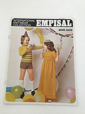 Empisal Knitting Pattern Book - AU25 for children's clothes