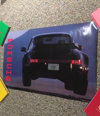 """1989 Porsche 911 Turbo Coupe Advertising Sales Poster 22""""x31"""""""