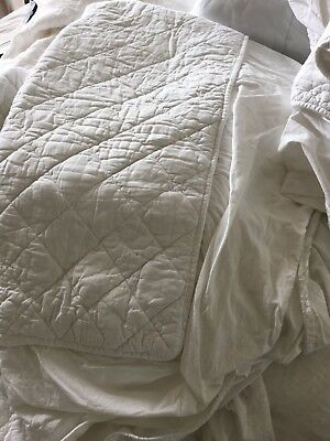Pair OF QUILTED MATTRESS PROTECTORS, SINGLE SIZE, LIGHTLY USED, GOOD QUALITY