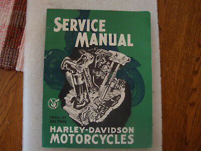 1940-47 Big Twin Harley Davidson Service Manual Knucklehead 1992 printing