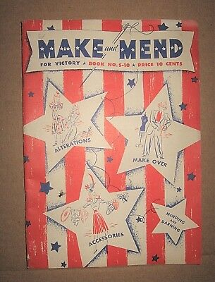 Vintage 1942 WWII Spool Cotton Company MAKE MEND for VICTORY Sewing Catalog