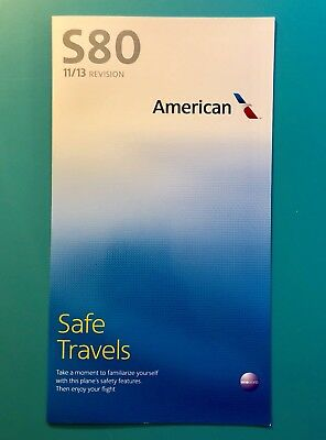American Airlines Safety Card--Md80
