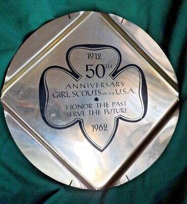 50th Anniversary Girl Scouts of the U.S.A. Tray 1912 to 1962