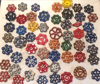 55 Vintage Valve Handles Water Faucet Knobs STEAMPUNK Industrial Lot Fifty Five