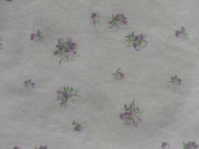 Vintage Laura Ashley FULL FITTED Floral Sheet Tiny Purple Flowers