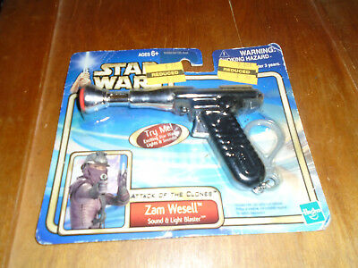Star Wars Attack of The Clones Zam Wesell Blaster SEALED