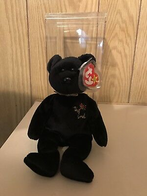 ty beanie baby the end bear 1999 Y2K Millennium Teddy Bear NWT NEW MINT