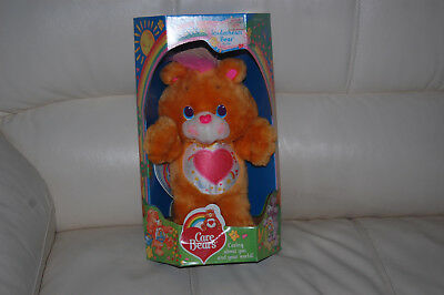 Care Bears Environmental TENDERHEART BEAR Plush w/Original Box Kenner 1991