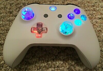 Xbox One Controller with CUSTOM LED GLOWING MOD Halo COD Fallout Fortnite