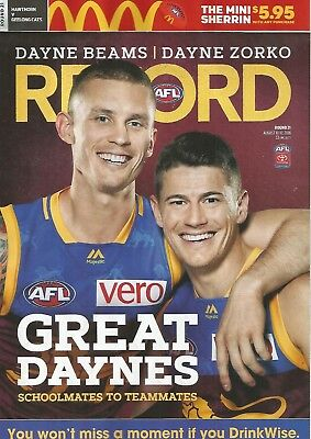 2018 Round 21 Hawthorn Vs Geelong Footy Record