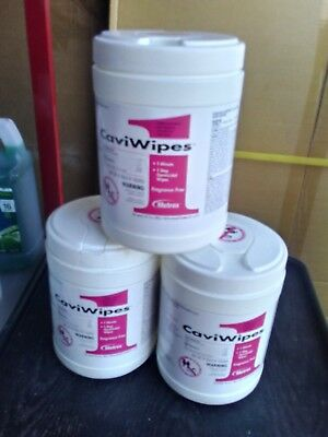 CaviWipes1 by Metrex Disinfecting Towelettes - Large 160/Canister, LOT OF 3