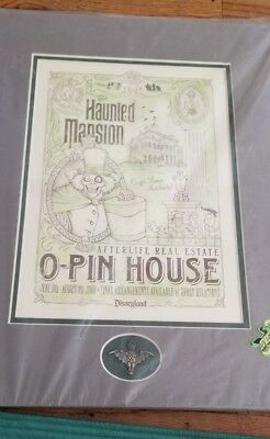 Haunted Mansion 40th anniversary O-pin House hatbox ghost With Pin