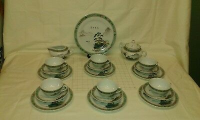 chinese tea set hand painted