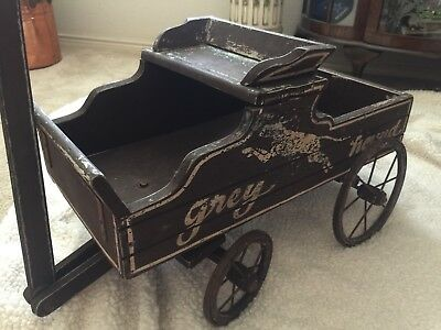 Antique Primitive Grey Hound Wooden Child's Wagon - 20's or 30's?