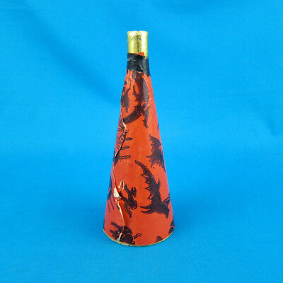 """VTG 7"""" Halloween Cardboard Horn Party Toy 30s/40s? noisemaker blower witch cat"""