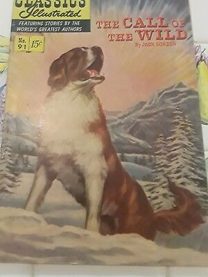 Classics Illustrated #91 HRN 92 THE CALL OF THE WILD.  COVER ATTACHED
