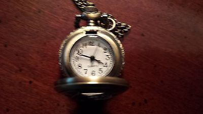 Hess Like Vintage Quartz Pocket Watch, With Chain, Price Reduced! !!